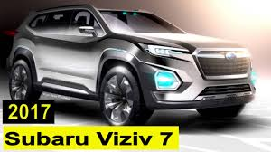 subaru viziv interior 2017 subaru viziv 7 suv interior and exterior review test drive