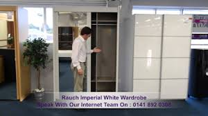 Wardrobes With Sliding Doors Rauch Imperial White 2 Sliding Door 2 Mirror Wardrobe Youtube