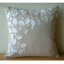Cushion Covers For Sofa Pillows by Amazon Com Handmade Ecru Cushion Covers French Floral Pillow