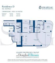 chateau beach residences floor plans luxury oceanfront condos in