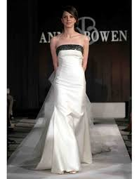 wedding dresses with black accents from spring 2012 bridal fashion