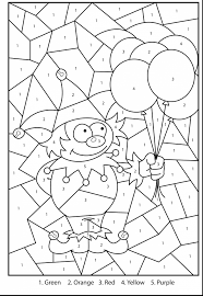 incredible kids color with color by number coloring pages