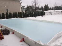 Backyard Ice Skating by Home Ice Skating Rink Kit Easiest Backyard Ice Hockey Rink Ez Ice