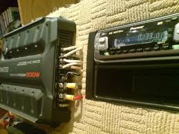 wiring a car audio amplifier and headunit up indoors using pc