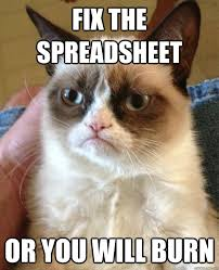 Fix It Meme - fix the spreadsheet cat meme cat planet cat planet