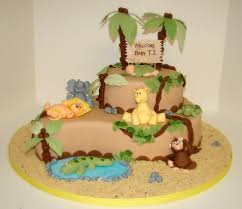 jungle baby shower cakes baby shower cake toppers for boys with jungle theme jungle baby