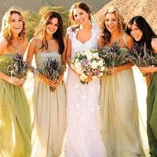 bridesmaid dresses different shades of same color pretty gowns