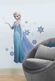 Wall Murals Australia Frozen Elsa Giant Wall Stickers With Glitter Wall Murals