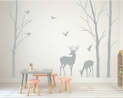 popular birch tree wall decals buy cheap birch tree wall decals deer wall decals tree nursery wall art woodland nursery removable sticker birch tree wall sticker birds
