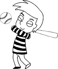 boy baseball playing coloring page wecoloringpage