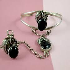 sterling silver black onyx bracelet images Shop vintage onyx bracelet on wanelo jpg