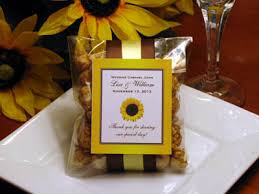 sunflower wedding favors nerine s hay bales luminaries and the bridesmaids 39