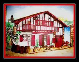 La Rentrée Avec Bureau Vallée Anglet Côte Basque Peinture Maison Basque Pays Basque Dessins Cliparts