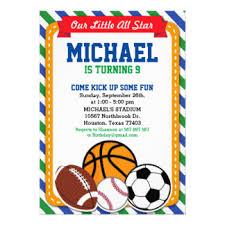 sports birthday invitations u0026 announcements zazzle
