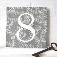 Pewabic Tile House Numbers by House Number Ceramic Tile Linear Floral