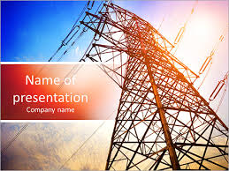 ppt templates for electrical engineering high voltage post high voltage tower sky background powerpoint