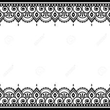 mehndi indian henna tattoo design greetings card lace ornament