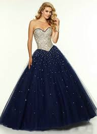 long navy blue prom dress tulle 2015 long corset ball gown prom