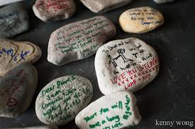 signing stones for wedding tyttenhanger park wedding in hertfordshire
