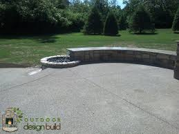 Fire Pit With Water Feature - patio with roof seating wall water feature u0026 fire pit outdoor