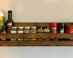 Wall Mount Spice Racks For Kitchen Wall Spice Rack Etsy