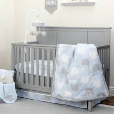 Elephant Crib Bedding Sets Nojo The Dreamer Collection Elephant Blue Grey 8 Crib