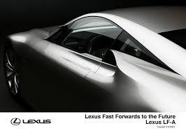 future lexus supercar lexus fast forwards to the future lexus uk media site