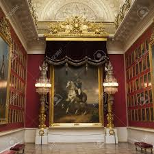paintings of famous russian leaders in a museum winter palace