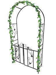 dirty pro toolstm metal garden arch with gate archway for climbing