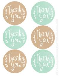 thank you tags thank you printable labels label printable labels