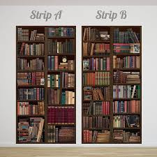 bookcase self adhesive wall mural by oakdene designs