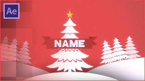 christmas effects 2d intro template free download