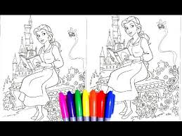 disney princess belle beauty beast coloring book pages