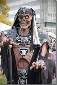 Raiders Halloween Costume England Eleven Pictures Face Painted Footy Fans