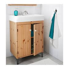 SILVERÅNHAMNVIKEN Washbasin Cabinet With  Doors Light Brown - Bathroom basin and cabinet 2