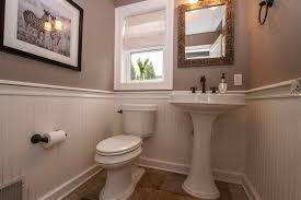 Plumbing For Pedestal Sink Cottage Powder Room With High Ceiling U0026 Pedestal Sink In Maplewood