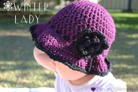 baby girl crochet free crochet pattern winter baby girl hat veggie