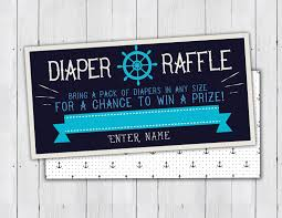 baby shower diaper raffle ticket nautical boy shower baby