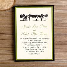 cheap rustic wedding invitations cheap green trees rustic wedding invitations iwi252 wedding