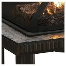 Patio Table With Built In Heater Fire Pits Target