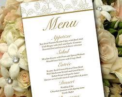wedding menu cards etsy