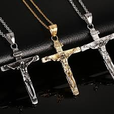 crucifix pendant necklace images Vnox vintage crucifix pendant necklace for men stainless steel jpg
