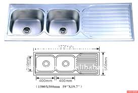Double Bowl Drainer Kitchen Sink Elegant Inset Single  TAP HOLES - Single or double bowl kitchen sink
