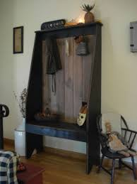 rustic amish black primitive shelf with shaker pegs 49 00 via