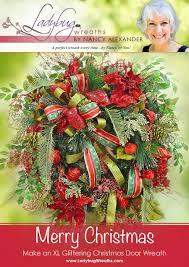 merry christmas u201d door wreath ladybug wreaths by nancy alexander