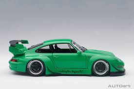 hoonigan porsche autoart 78151 porsche 911 rwb 993 green 1 18 scale composite car