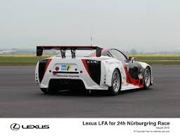 lexus racing car lexus and gazoo racing compete together at nürburgring 24h race