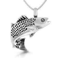 memorial necklace for ashes fishing ashes memorial necklace personalised stainless steel