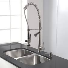 commercial single handle pull down kitchen faucet with stainless views 1611 views