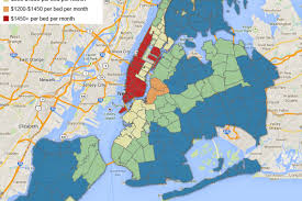 Map Of New York And Manhattan by In What Nyc Neighborhoods Does It Pay To Have Roommates Curbed Ny